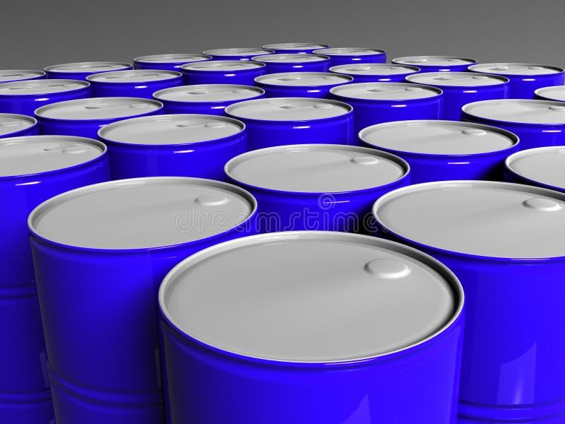 Muchos barriles del azul libre illustration