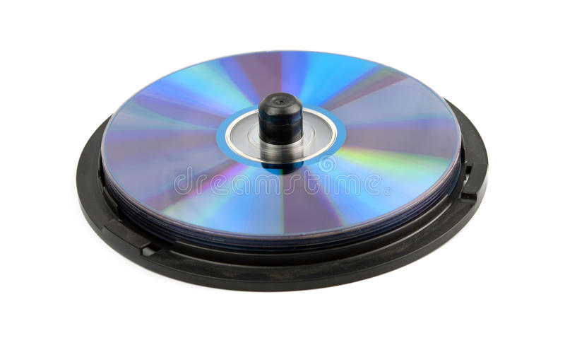 Muchos CD Aislada Imagenes de archivo