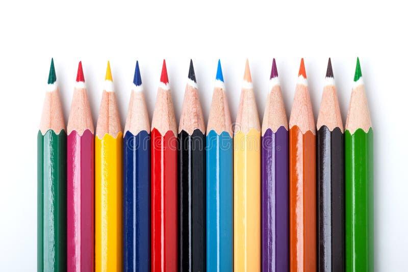Muchos colorean los lápices fotografía de archivo libre de regalías