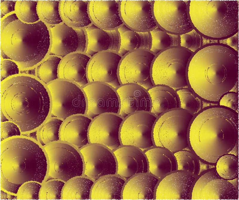 Muchos colores de las tapas, marrones y amarillos ilustración del vector