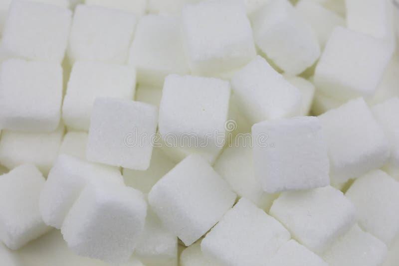 Muchos cubos del azúcar fotos de archivo libres de regalías
