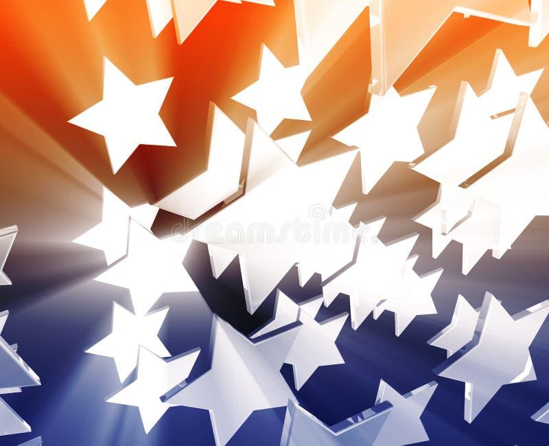 Muchos estrellas del vuelo stock de ilustración