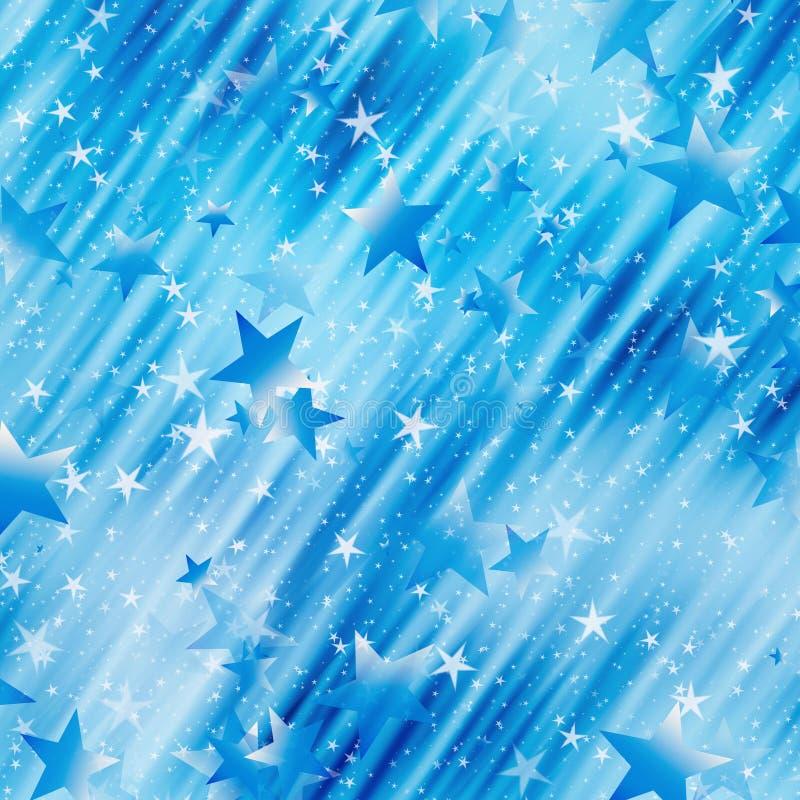 Muchos estrellas del vuelo en un fondo soñador stock de ilustración