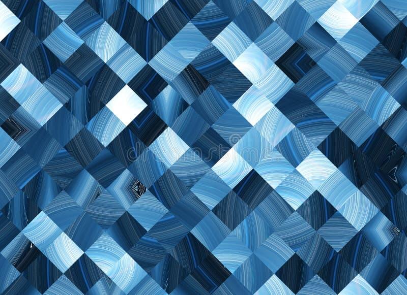 Muchos fondos cuadrados abstractos de los pixeles stock de ilustración