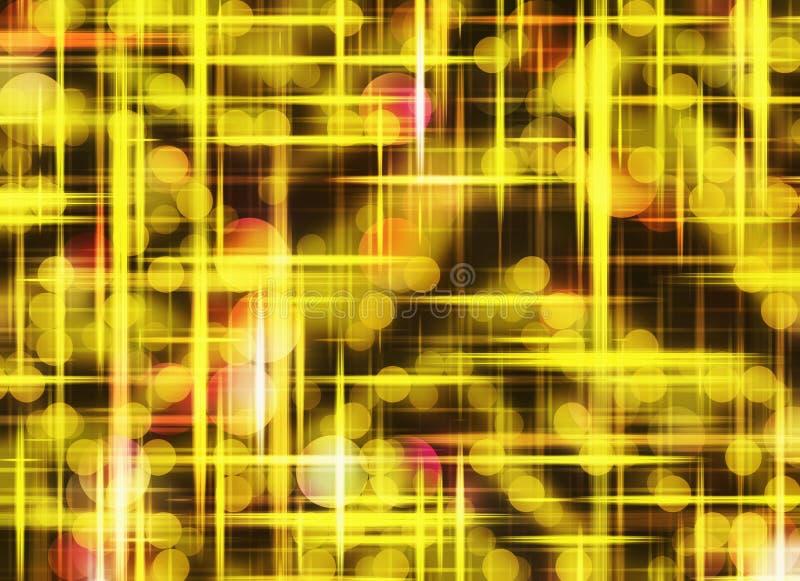 Muchos fondos ligeros soñadores de oro de las burbujas libre illustration