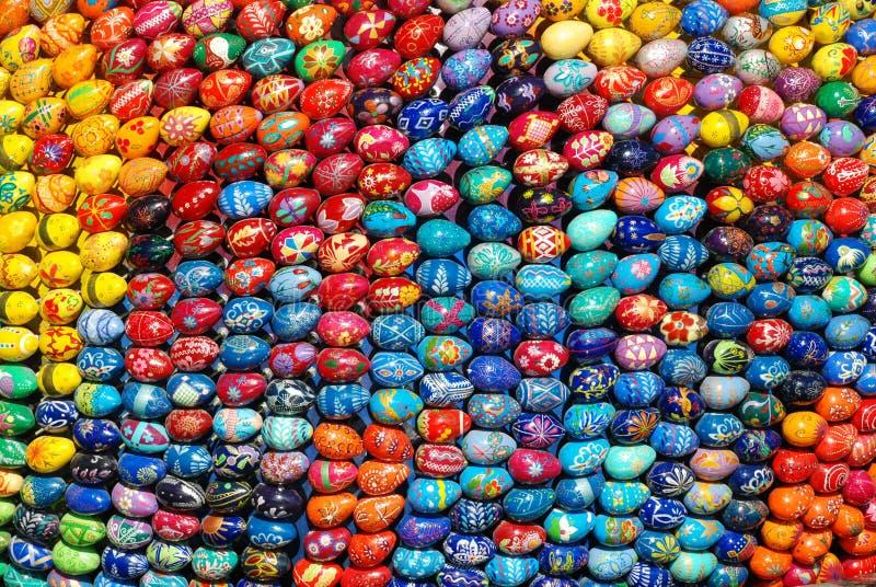 Muchos huevos de Pascua fotografía de archivo libre de regalías