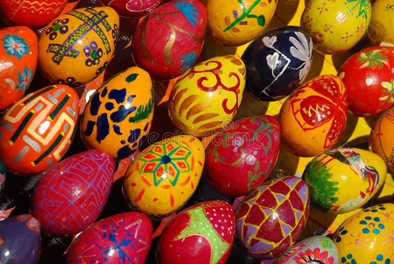Muchos huevos de Pascua. imagen de archivo libre de regalías
