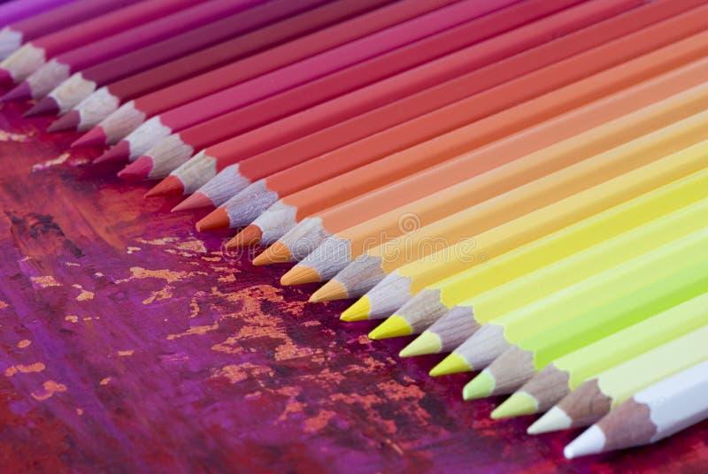 Muchos lápices coloridos imagenes de archivo