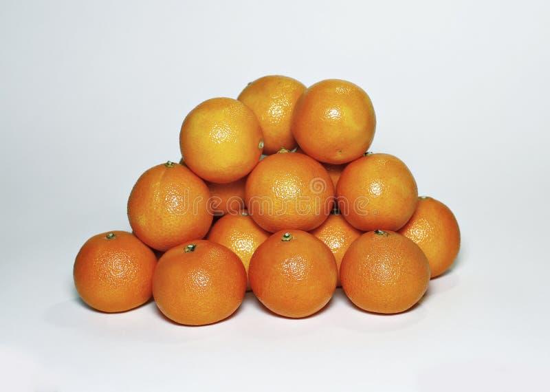Muchos mandarines anaranjados foto de archivo libre de regalías
