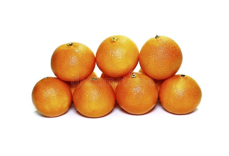 Muchos mandarines anaranjados fotografía de archivo libre de regalías