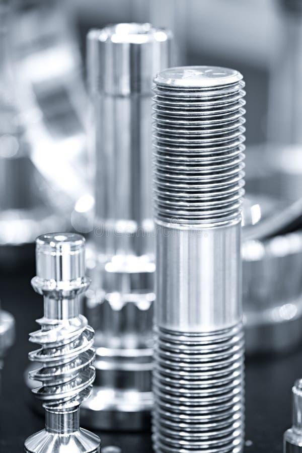 Muchos tipos de metal detallan el fondo del diseño industrial fotografía de archivo libre de regalías