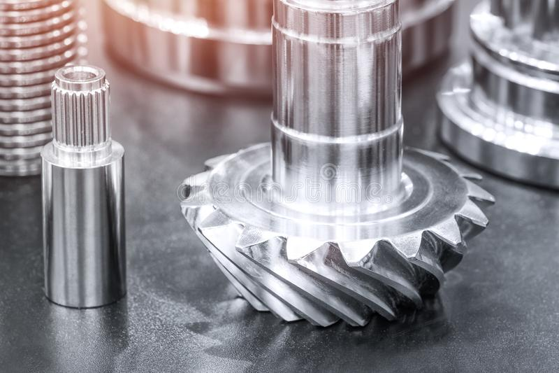 Muchos tipos de metal detallan el fondo del diseño industrial, concepto de la ingeniería industrial imagen de archivo libre de regalías