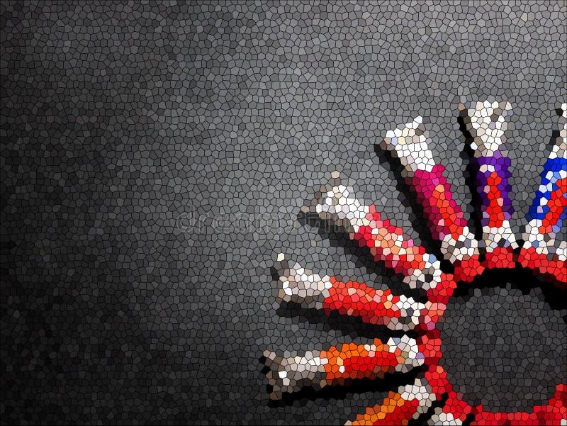 Muchos tubos multicolores con las acuarelas ilustración del vector