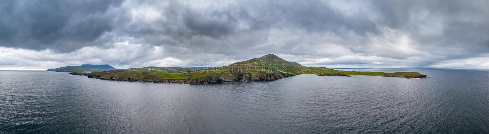 Mucross Head is a small peninsula about 10km west of Killybegs in County Donegal in north-west Ireland and contains a. Popular rock-climbing area, noted for its royalty free stock photography