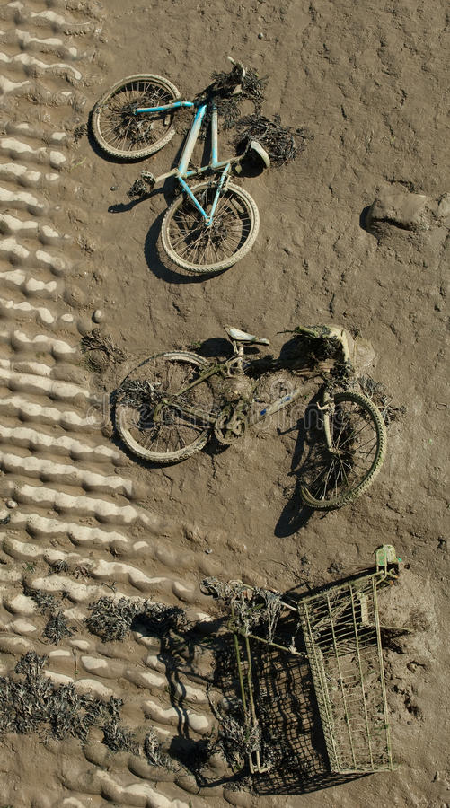 Download In the Mud stock image. Image of waste, tipping, bicycle - 21532747