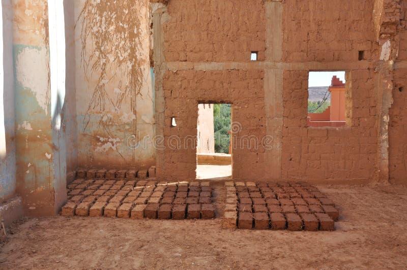 Mud bricks. Ready to use royalty free stock photos