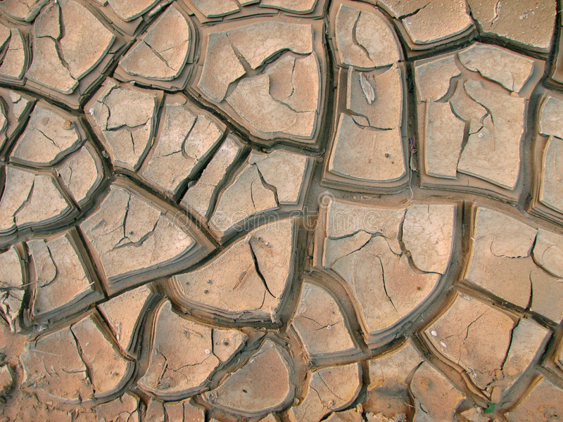 Mud-cracks stock images