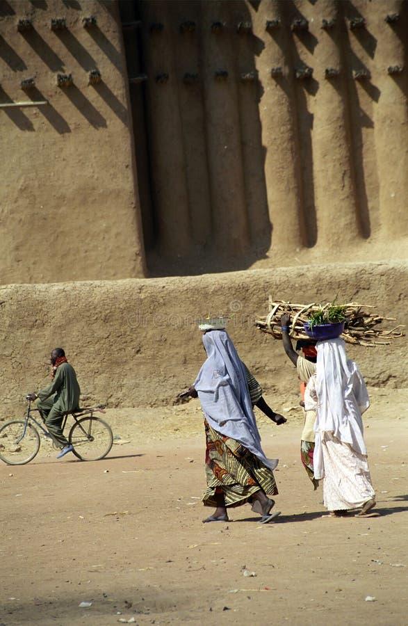mud för djennemali moské arkivfoton