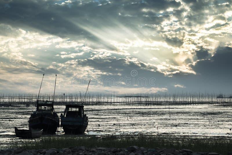 Download Mud flat scenery stock image. Image of sailing, twilight - 27674337