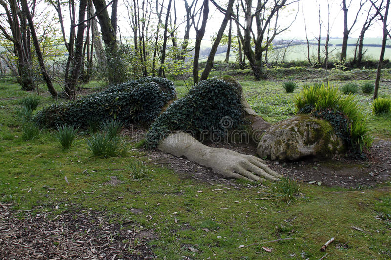Mud Maid sculpture. At The Lost Gardens of Heligan, Cornwall. UK royalty free stock images