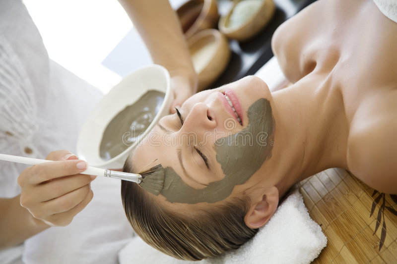 Mud mask stock images