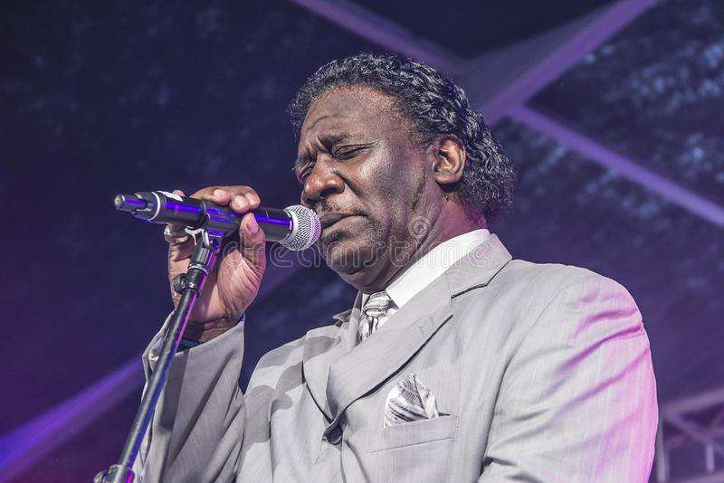 Mud Morganfield sings the blues stock images