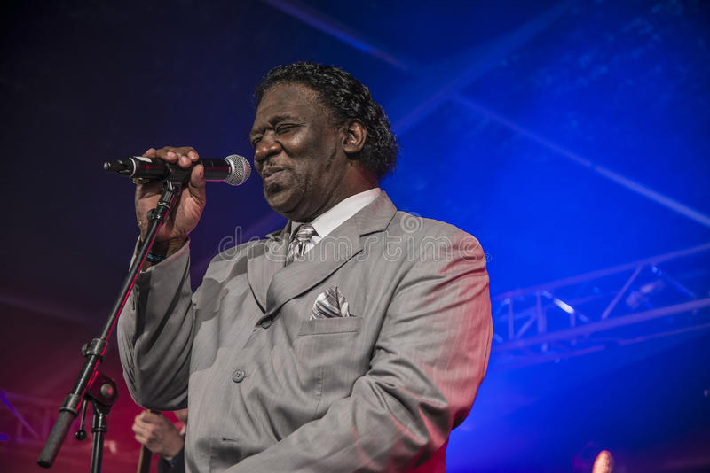 Mud Morganfield sings the blues stock photography