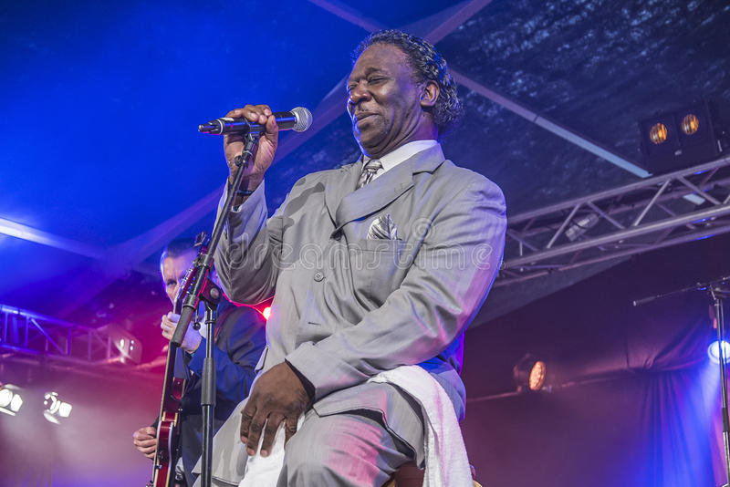 Mud Morganfield sings the blues royalty free stock images
