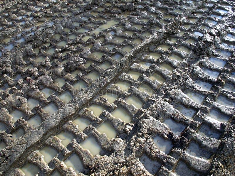 mud spåriner traktoren arkivfoto