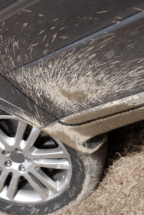 Mud splattered SUV royalty free stock image