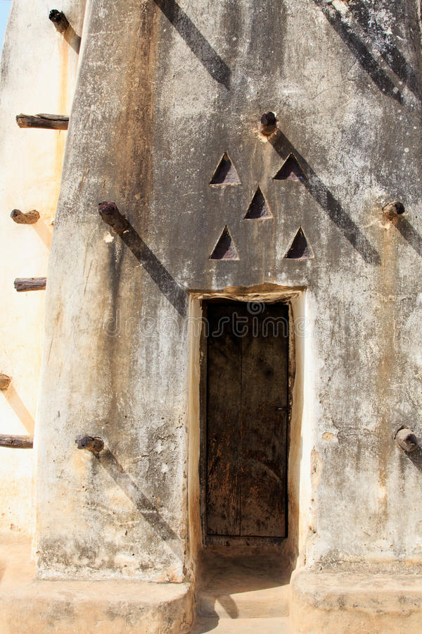 Mud and stick mosque door royalty free stock photo