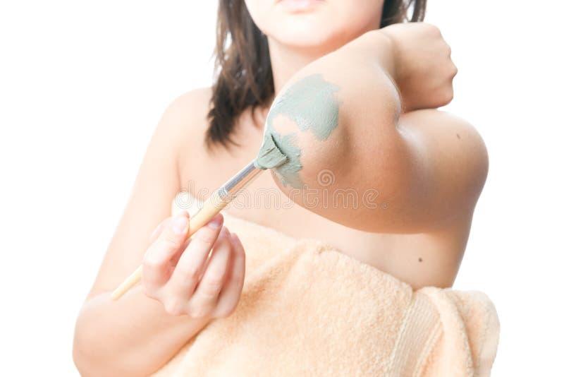 Mud treatment mask royalty free stock photo
