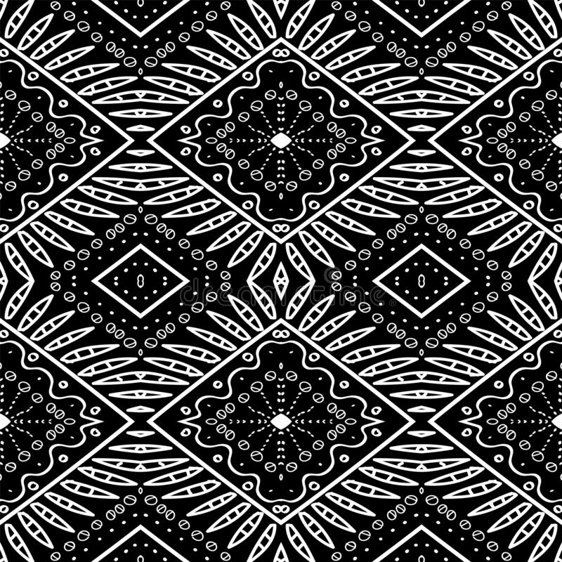 Mud Tribal Mexico Design vektor illustrationer