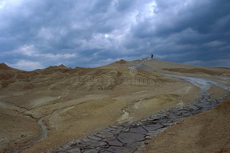 Mud volcano. Eastern Carpathians, Romania royalty free stock photo