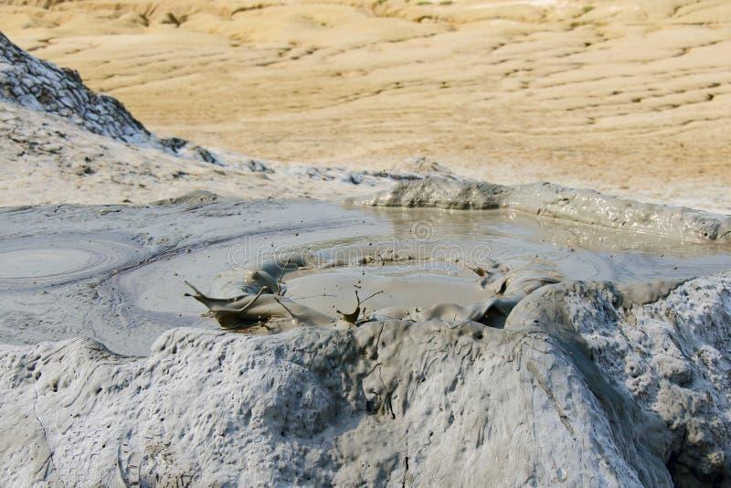 Mud volcano in Berca, Romania stock photo