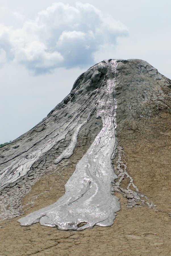 Mud volcano cone in vulcanii noroiosi reserve near berca village buzau county romania stock photo