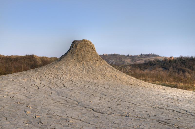 A mud volcano in the Natural Reserve Salse di Nirano royalty free stock photography