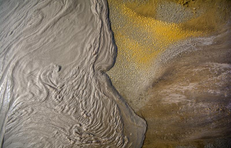 Mud volcano from Romania, detailed closeup of nature stock photography