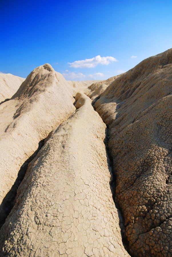 Mud Volcanoes in Buzau royalty free stock image