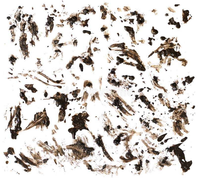 Mud on White royalty free stock photos