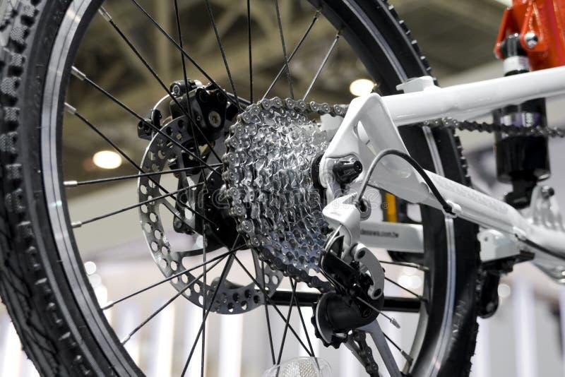 Mudança da engrenagem da bicicleta fotografia de stock royalty free