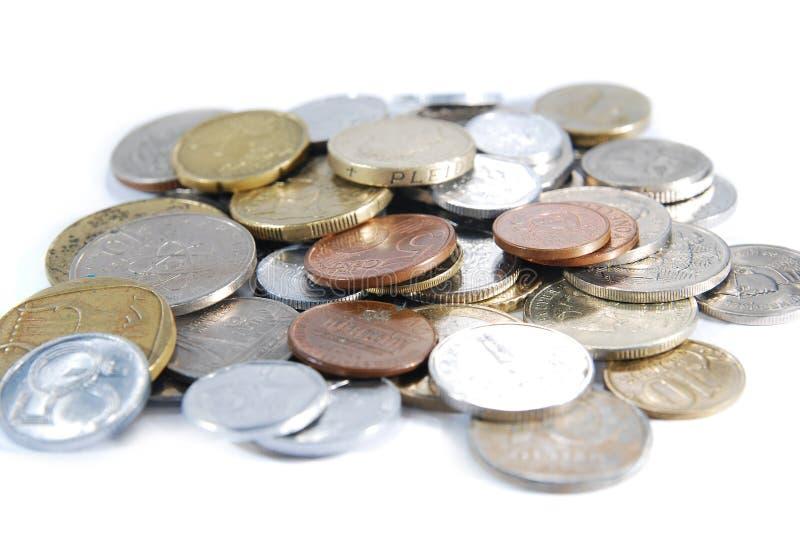 Mudança da moeda imagem de stock