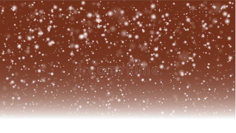 Mudança das estações fundo, inverno ilustração do vetor