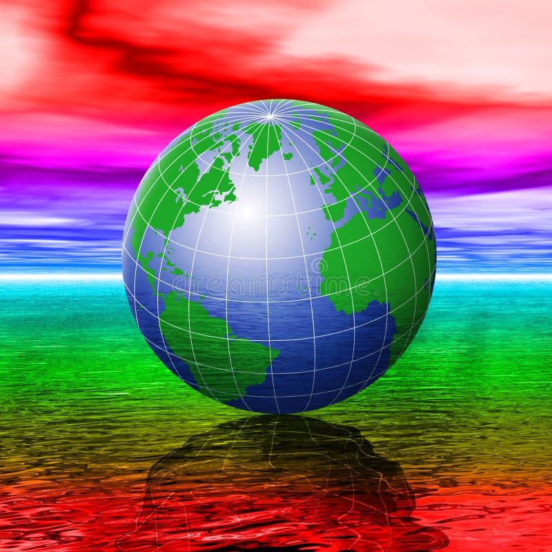 Mudança de clima ilustração stock