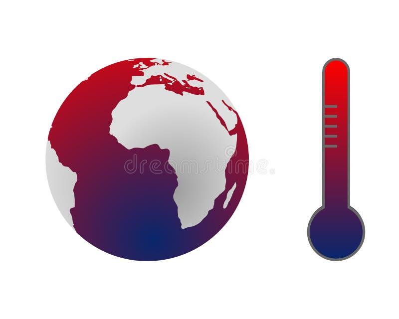 Mudança de clima: aquecimento global ilustração royalty free