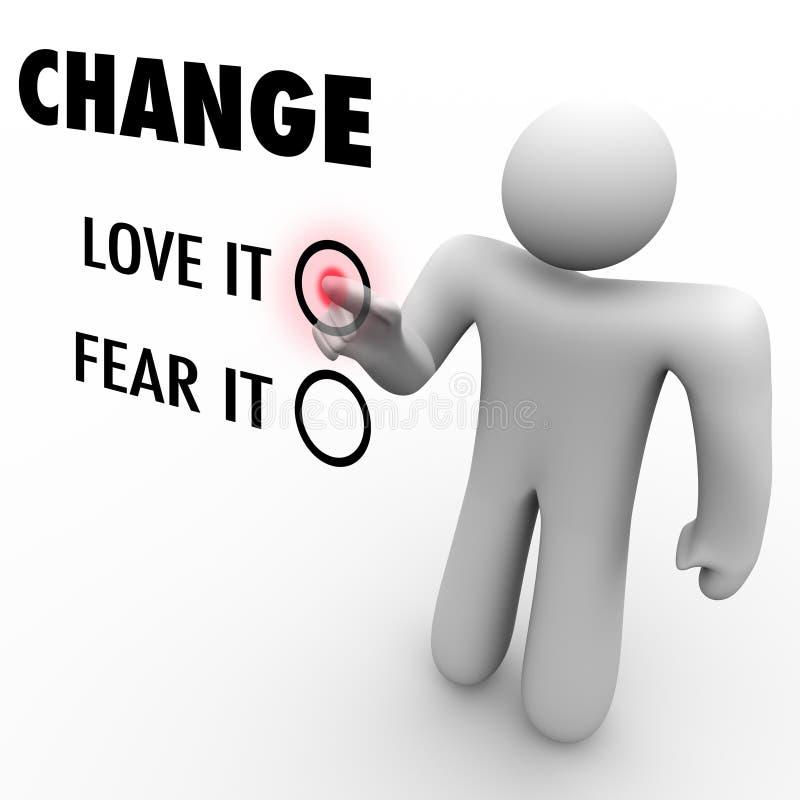 Mudança do amor ou do medo - coisas diferentes do abraço ilustração do vetor