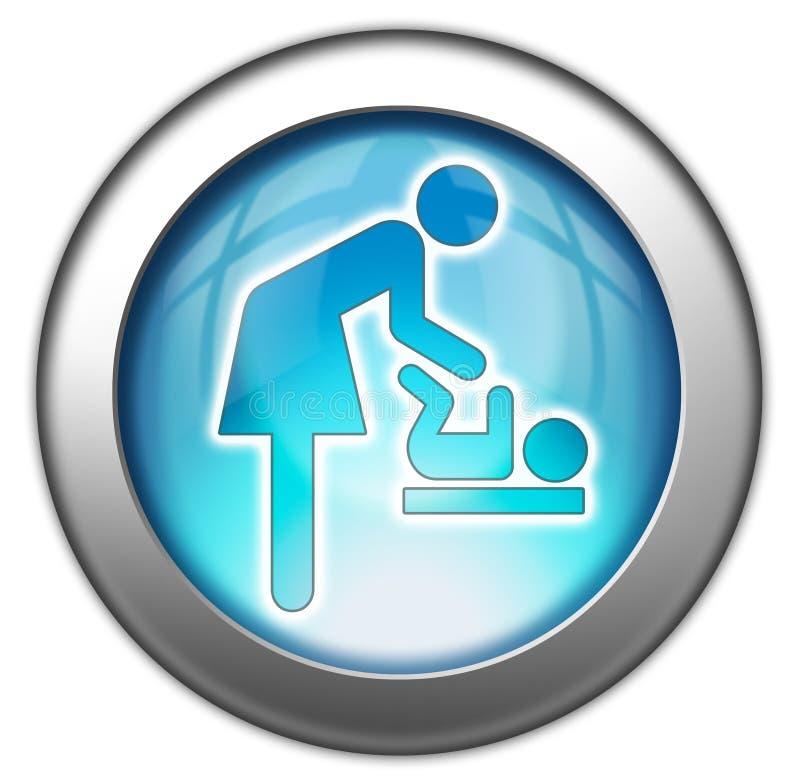 Mudança do bebê do ícone/botão/pictograma ilustração stock