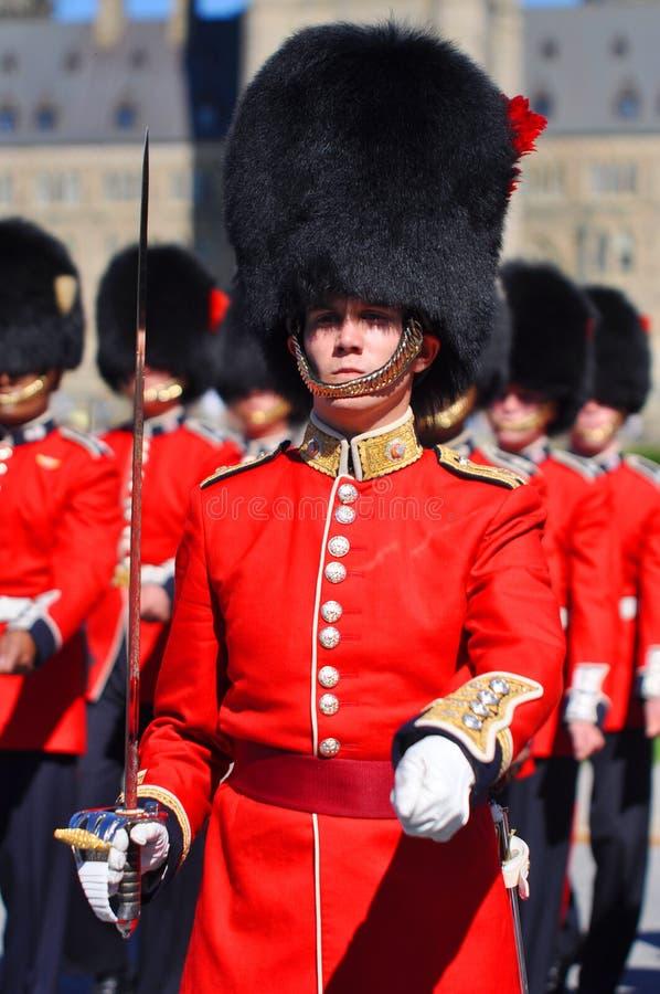 Mudança do protetor no monte do parlamento, Ottawa fotos de stock royalty free