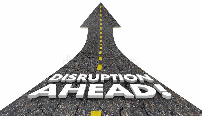 Mudança Major Shift Innovation Road 3d Illustrat do rompimento adiante ilustração do vetor