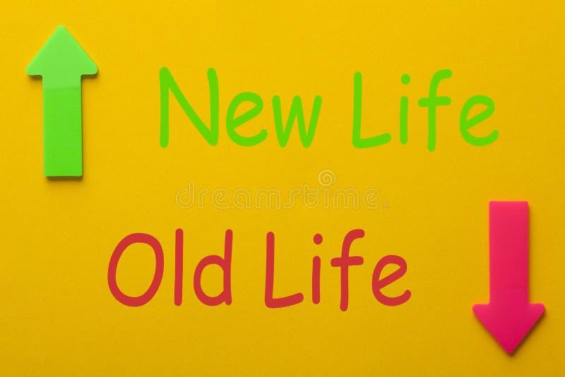 Mudança nova da vida da vida velha fotografia de stock royalty free